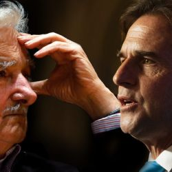 Mujica y Lacalle Pou.  | Foto:CEDOC
