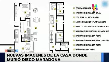 Se filtraron fotos de la casa donde Diego Maradona pasó sus últimos días