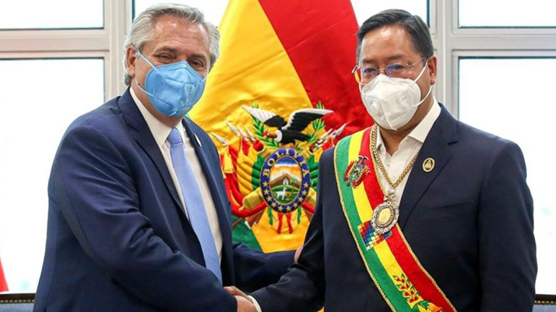 President Alberto Fernández and Bolivia President Luis Arce.