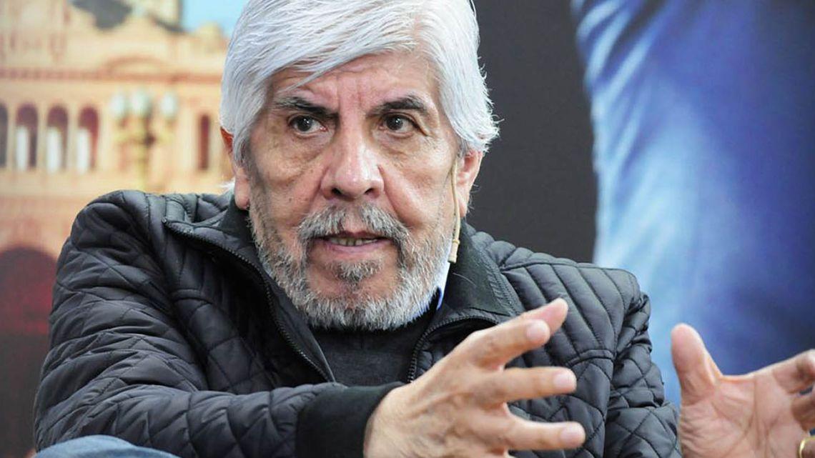 Veteran union leader Hugo Moyano.