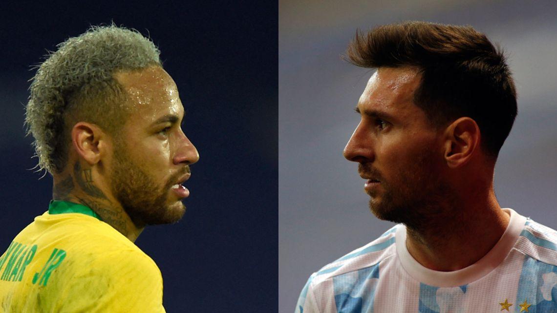 Neymar and Lionel Messi.