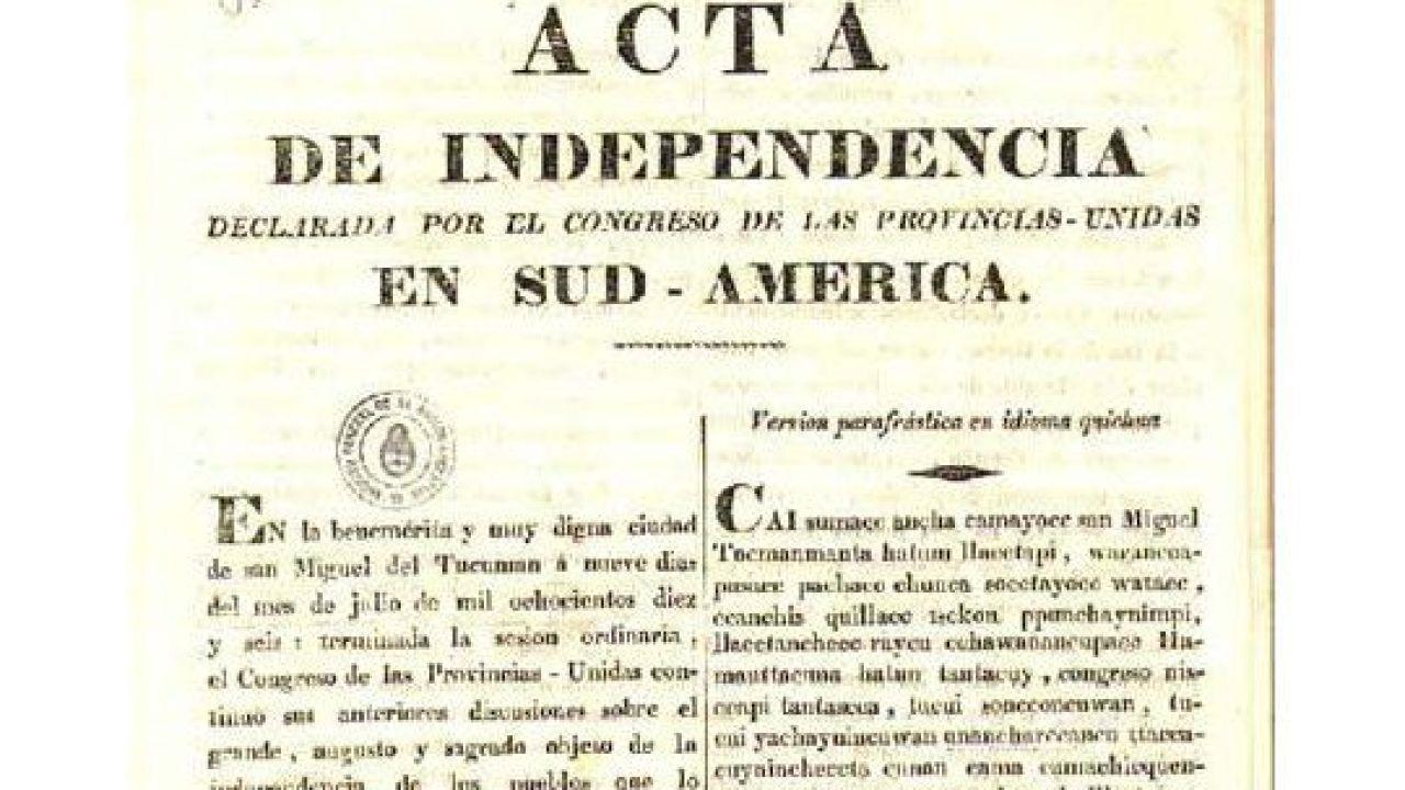Acta de independencia | Foto:Cedoc