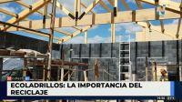 Eco-ladrillos: están hechos con material reciclado y sirven para la construcción