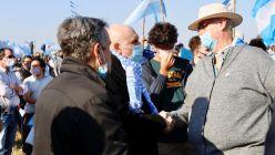 José Luis Espert en la movilización del campo