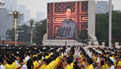 Xi Jimping en el Aniversario del Partido Comunista Chino