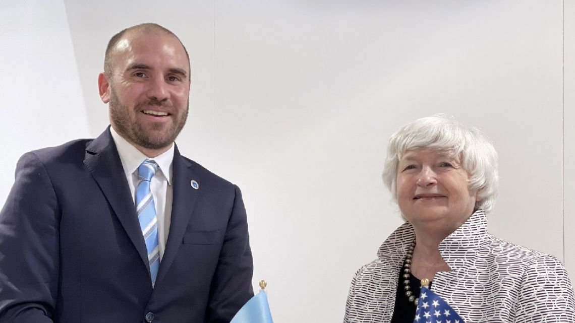 Economy Minister Martín Guzmán meets with US Treasury Secretary Janet Yellen.