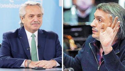 Ida y vuelta. Máximo Kirchner apuntó a la gestión con Cafiero en el Congreso. Fernández se defendió.
