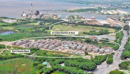 Espacio. Detrás del barrio Rodrigo Bueno, en Costanera Sur, el grupo Elsztain tiene 70 hectáreas y cederá 47 al gobierno porteño.