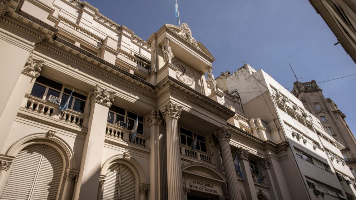 Argentina's Central Bank, in Buenos Aires City.