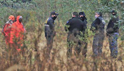 Rastrillajes. La búsqueda está concentrada en el barrio 544 Viviendas pero también en el norte de la provincia, donde ayer buscaron pistas.