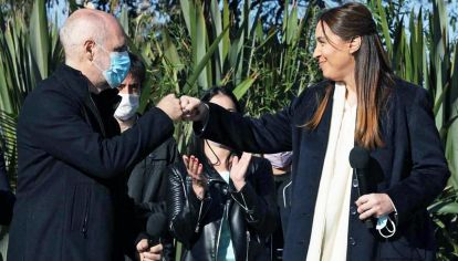 Figuras. El saludo entre Larreta y Vidal, la síntesis del armado porteño.