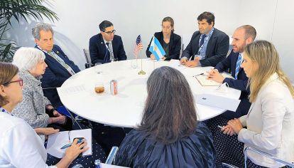 """""""Satisfacción"""". La delegación argentina destacó que fue una """"muy buena reunión"""" con Janet Yellen y la comitiva de Estados Unidos."""