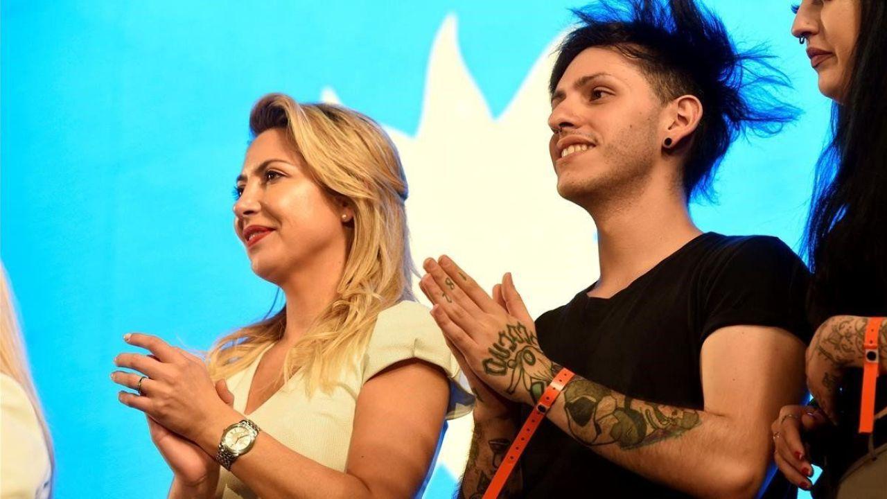 Fabiola Yañez y Estanislao Fernández.    Foto:CEDOC