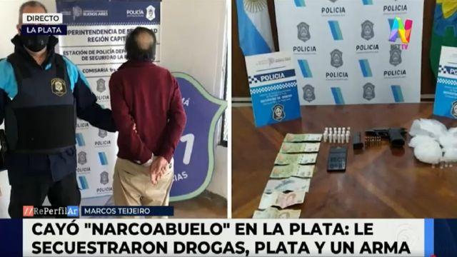 Cayó el narcoabuelo en La Plata