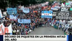 Récord de protestas contra el Gobierno: aumentaron un 60% con relación al 2020