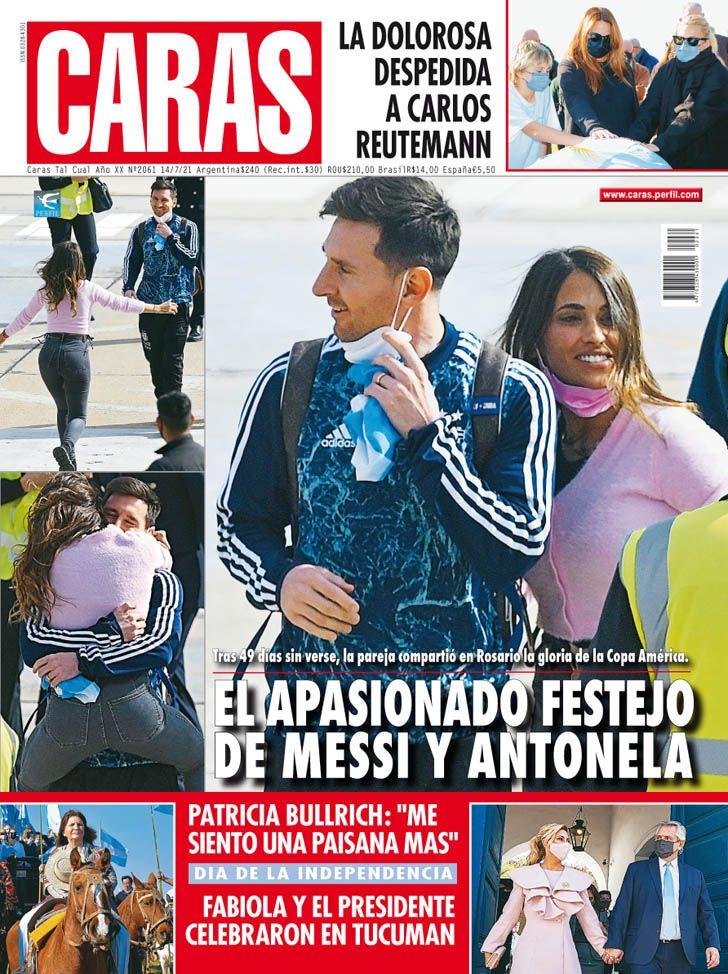 El apasionado festejo de Leo Messi y Antonela Roccuzzo