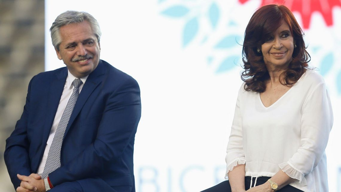 Alberto Fernández and Cristina Fernández de Kirchner.