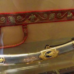 La famosa espada, que continúa fascinando a los coleccionistas, fue realizada con una hoja de 97 cm de largo.