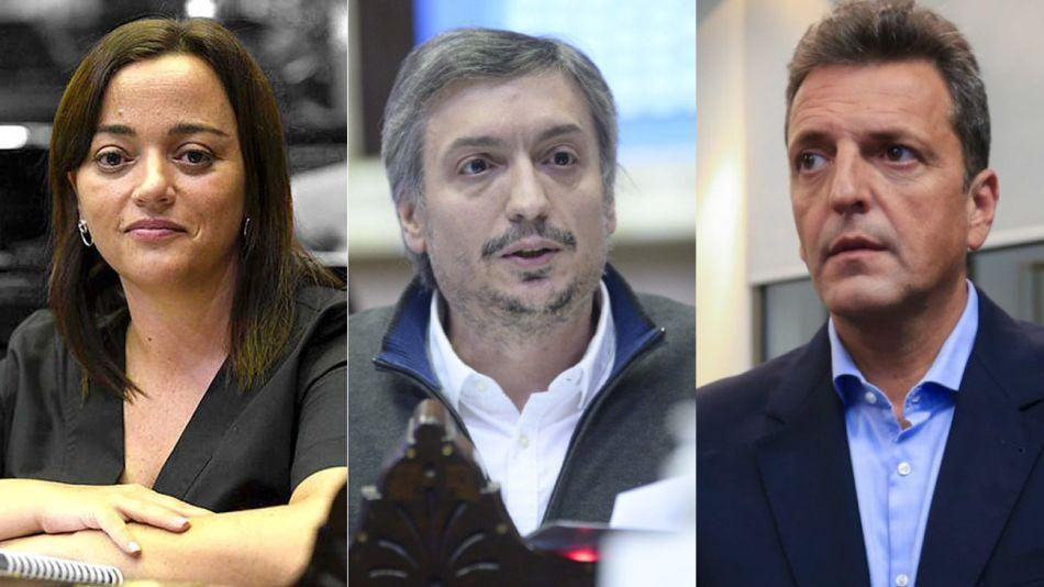 Cecilia Moreau, Maximo Kirchner y Sergio Massa 20210715