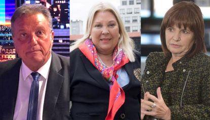 Carlos Eguía, Elisa Carrió, y Patricia Bullrich