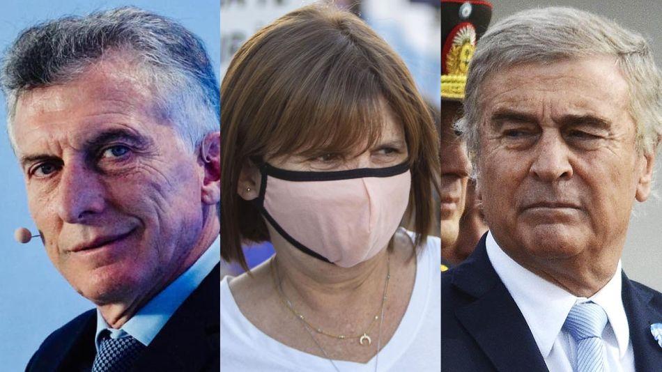Mauricio Macri, Patricia Bullrich y Oscar Aguad 20210716