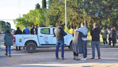 Hallazgo. El cuerpo del contador Gonzalo Calleja apareció debajo de un árbol, en un terreno ubicado en las calles Báez y Montiel, en la ciudad entrerriana de Paraná.
