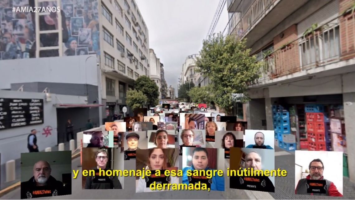 Officials from AMIA and families of the victims of the terror attack, 27 years ago, hold an online commemorative event to reiterate their call for justice. Usual celebrations were put on hold due to the coronavirus pandemic.