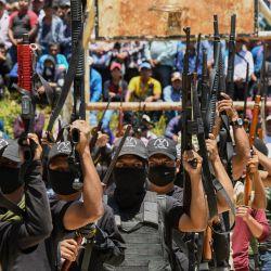 Miembros del nuevo grupo de autodefensa llamado    Foto:Isaac Guzman / AFP