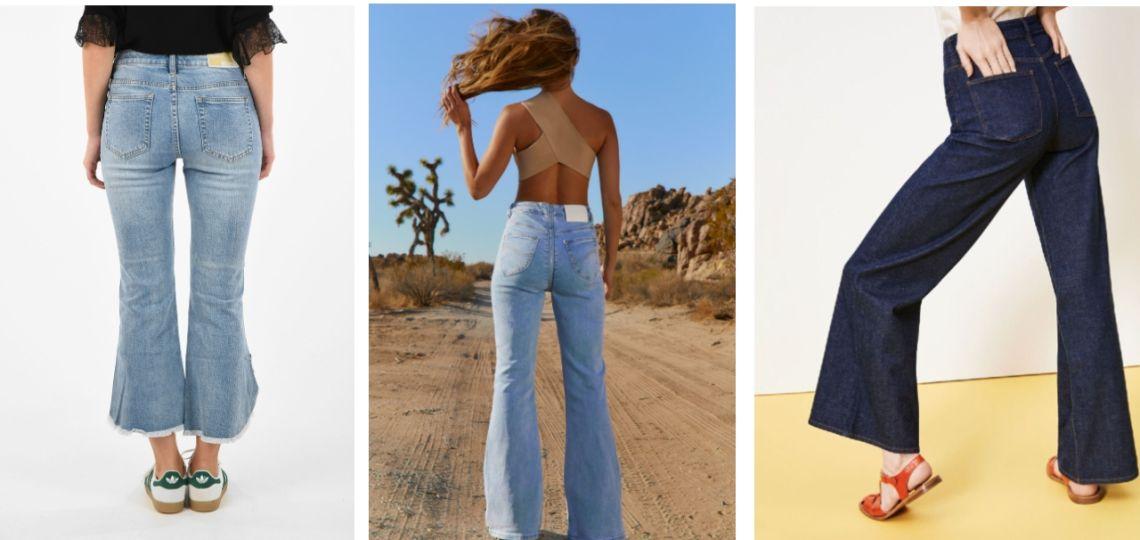 Flared jeans: tips para ganar altura con jeans bota ancha