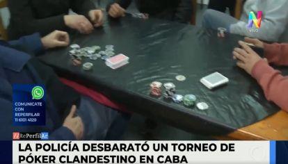 La Policía desbarató un torneo de Póker clandestino en la Ciudad de Buenos Aires