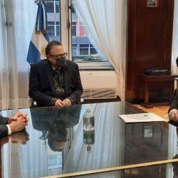 Elpresidente interino deConinagro, Elbio Laucirica, se reunió conMatías Kulfas para tratar la agenda del agro