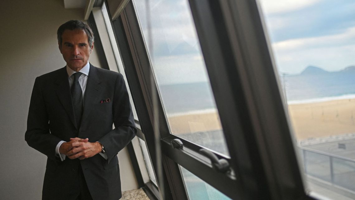 Director General of the International Atomic Energy Agency (IAEA), Rafael Grossi, pose for a picture after an interview with AFP at the Hilton Hotel in Rio de Janeiro, Brazil on July 19, 2021.