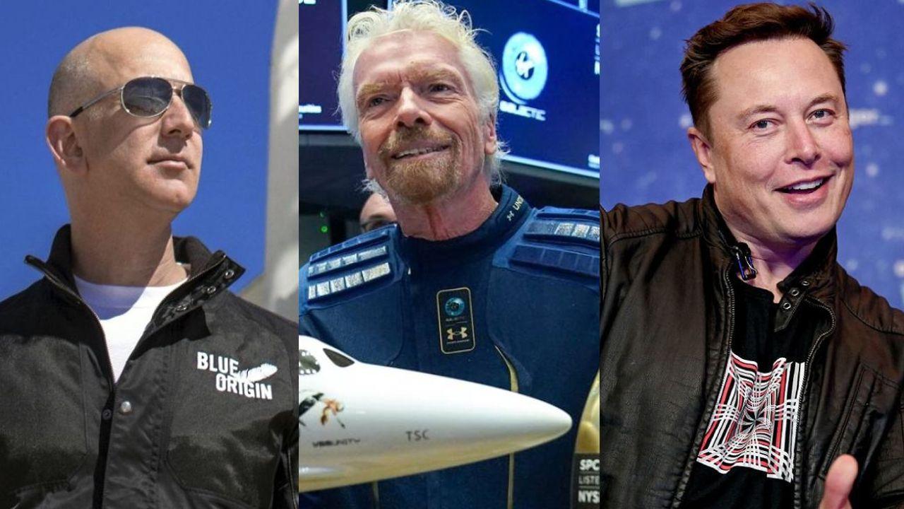 Bezos, Branson y Musk en carrera por la conquista espacial.    Foto:CEDOC