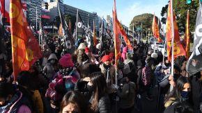 manifestación organizaciones sociales en el Centro porteño 20210720