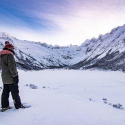 Ushuaia, con gran caudal de nieve, es una de las ciudades más concurridas en las vacaciones de invierno.