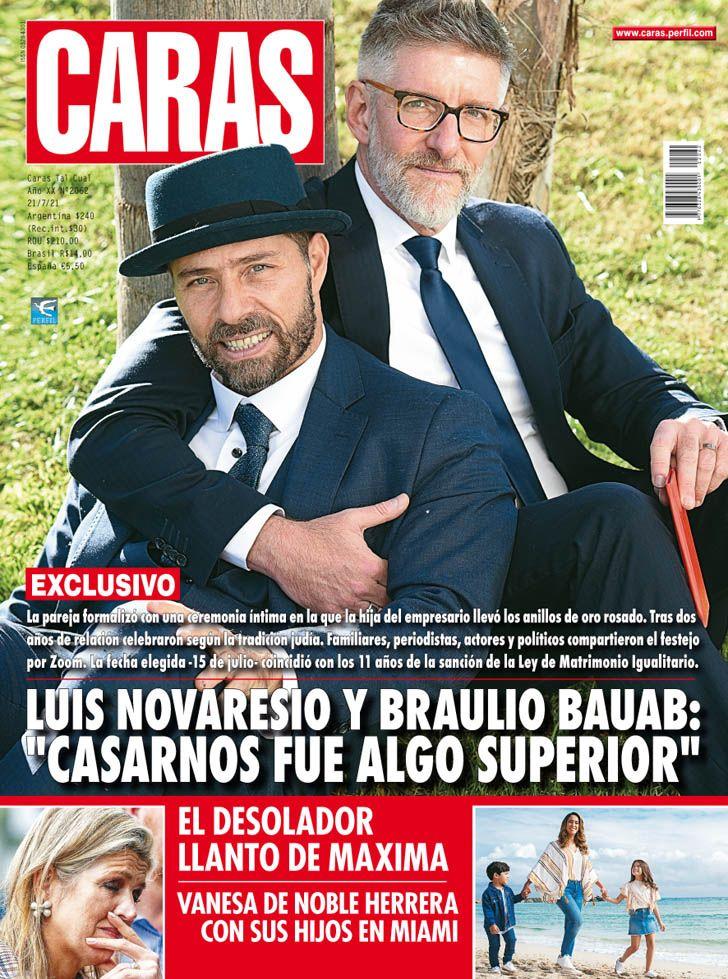 """Luis Novaresio y Braulio Bauab: """"Casarnos fue algo superador"""""""