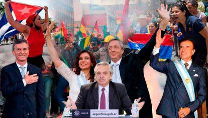 Mauricio Macri - Cristina y Néstor Kirchner - Alberto Fernández - Carlos Menem