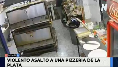 Violento robo en una pizzería de La Plata