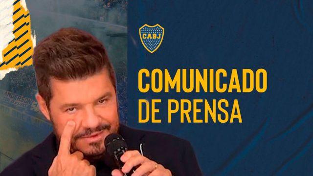 Marcelo Tinelli - Comunicado de Boca Juniors