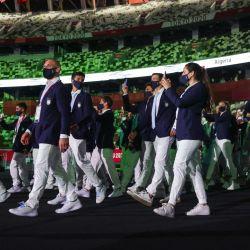 La delegación argentina desfilando en la inauguración de los Juegos Olímpicos de Tokio. // Telam