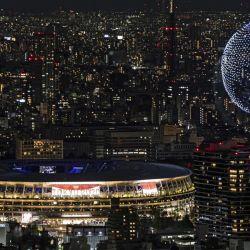 Ceremonia de apertura de los juegos en el estadio olímpico de Tokyo.
