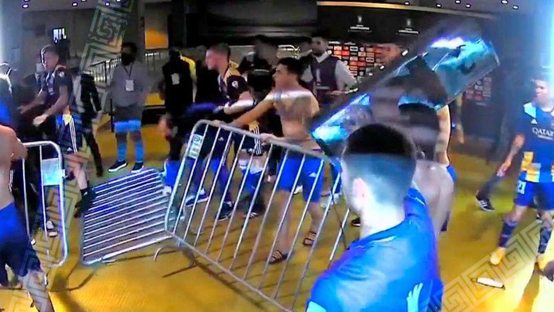 Boca fighting in Brazil...