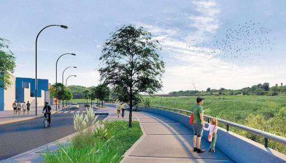Borde. En el barrio se proyecta un paseo costero desde donde se podrá ver la desembocadura del Río de la Plata y la Reserva Ecológica.