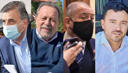 Referentes. Negri, Santos, Juez y De Loredo son las principales figuras de una oposición que busca mantener el peso en la provincia.