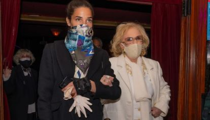 Junto a Juana Viale, Mirtha Legrand tuvo su primera salida desde la pandemia