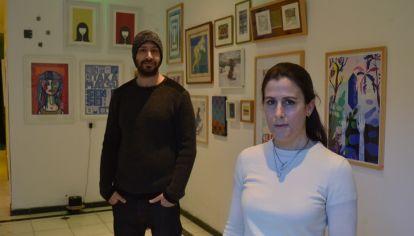 GESTORES. Lucía Taravella y Luis Luchetti, al frente de la galería y el hotel boutique.