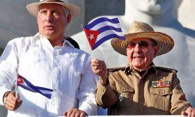 Días-Canel y Raúl Castro