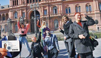 Opciones. Activistas no binaries celebraron la nueva norma de identidad en el DNI.