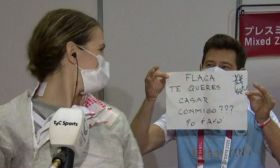 argentine fencer proposal olympics tv marriage