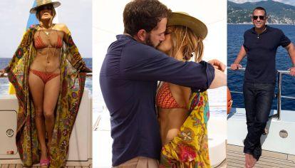 Jennifer López oficializó su romance con Ben Affleck mientras que su ex Alex Rodríguez vacaciona en el mismo lugar que ellos